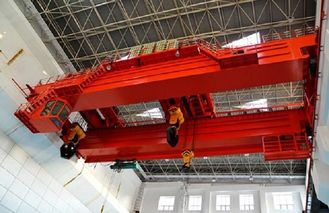 25 Ton Double Girder Overhead Crane , Twin Trolley Double Beam Bridge Crane
