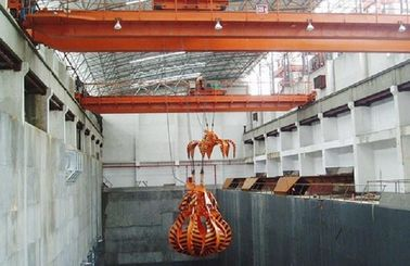 Heavy Duty QZ Double Beam Overhead Crane Lifting Devices With Grab Bucket