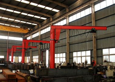 Small Powered Rotation Slewing Jib Crane Hoisting Equipment With Pillar Fixed
