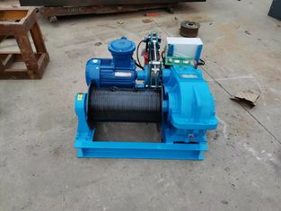 High Speed Industrial Electric Winch , Electric Wire Rope Winch 2 Ton With Button Control