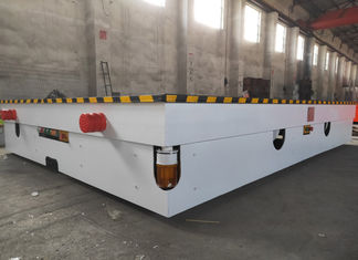 Industrial Platform Material Transfer Cart , Railway Coil Cable Drum Load Transfer Trolley