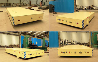 Long Distance Fat Rail Die Transfer Cart 200 Ton Precast Concrete Workshop Use