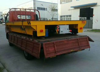 Building Material Transfer Cart , Four Wheels Electric On Rail Transfer Cart