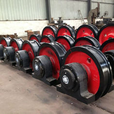 Anti Rust Steel Crane Wheel Set Good Toughness Durable Long Service Life
