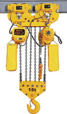 Yellow Color Motorised Chain Hoist 2T 3T 5T Lifting Usage Pendant Control