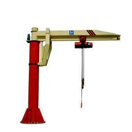 China Slewing Arm Pillar Mounted Jib Crane , High Safety Post Mounted Jib Crane supplier