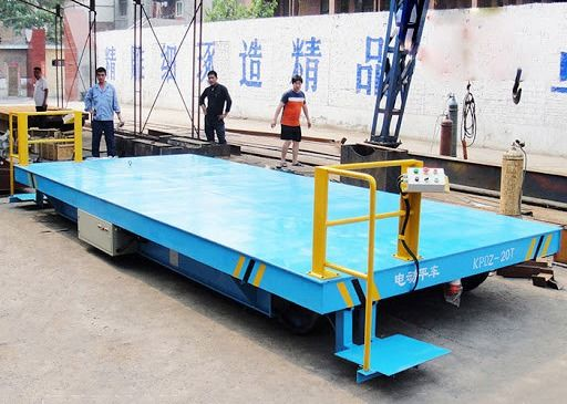Warehouse Adjustable Trackless 30 Ton Platform Transfer Cart