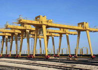 Outside Industrial Double Beam Gantry Crane Rail Mounted With Hook High Strength