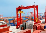 China 50 Ton Container Double Beam Gantry Crane With Spreader Overload Protection factory