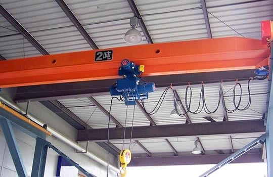 5~20 T Industrial Single Girder Bridge Crane , Electric Hoist