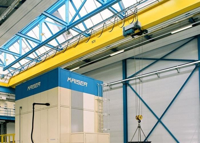 LD Electric Hoist Single Beam Overhead Crane , Warehouse