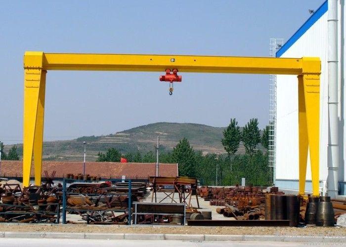 MH A Frame Single Beam 5 Ton Mobile Gantry Crane For Goods Yard Marble Granite Stone
