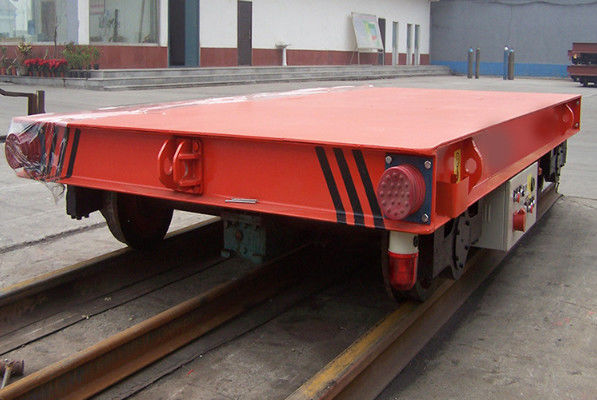 Red Color 5 Ton Material Transfer Cart , Industrial Transfer Car For Warehouses
