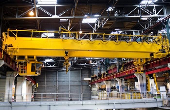 High Security EOT Crane Double Girder Bridge Crane With Open