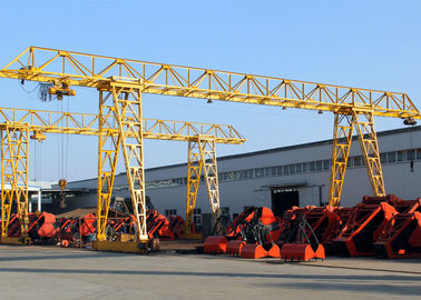 20 Ton Truss Single Girder Gantry Crane For Granite Industry / Cement Pipe Industry