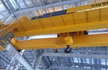 Electromagnetic Double Girder Overhead Crane Travelling Bridge Crane With Grab Bucket
