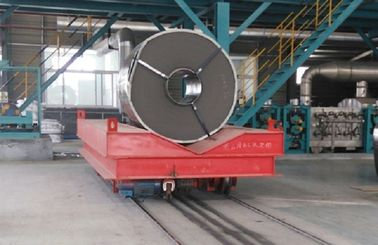 Low Voltage Conductor Rail Transfer Cart , Industrial Transfer Car For Cargo Handling