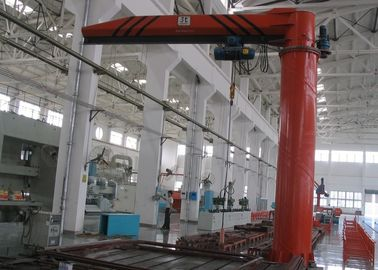 Floor Mounted / Pillar Mounted Electric Slewing Jib Crane With Wire Rope Hoist