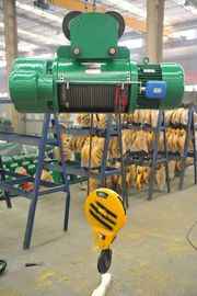 China Large Lifting Capacity Electric Wire Rope Hoist , Single Speed Electric Trolley Hoist factory
