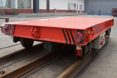 China Red Color 5 Ton Material Transfer Cart , Industrial Transfer Car For Warehouses distributor