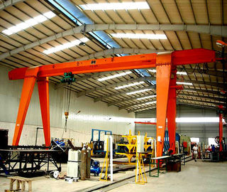 China Single Beam Rubber Gantry Crane Travel 10 Ton Heavy Equipment High Reliability factory