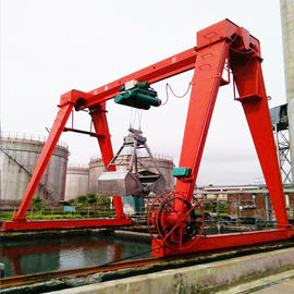 China Cabin Control Single Girder Gantry Crane 20 Ton For Building Material Shops factory