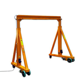 4 Wheels Mini Type Mobile Gantry Crane With Chain Or Wire Rope Hoist