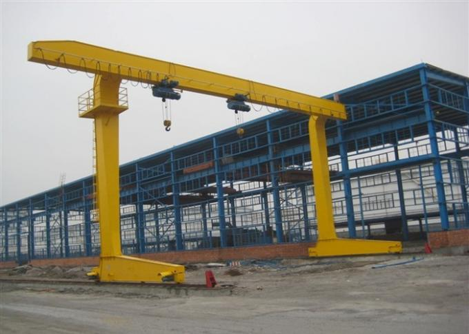 20 Ton Single Girder Gantry Crane , Truss Structure A Frame