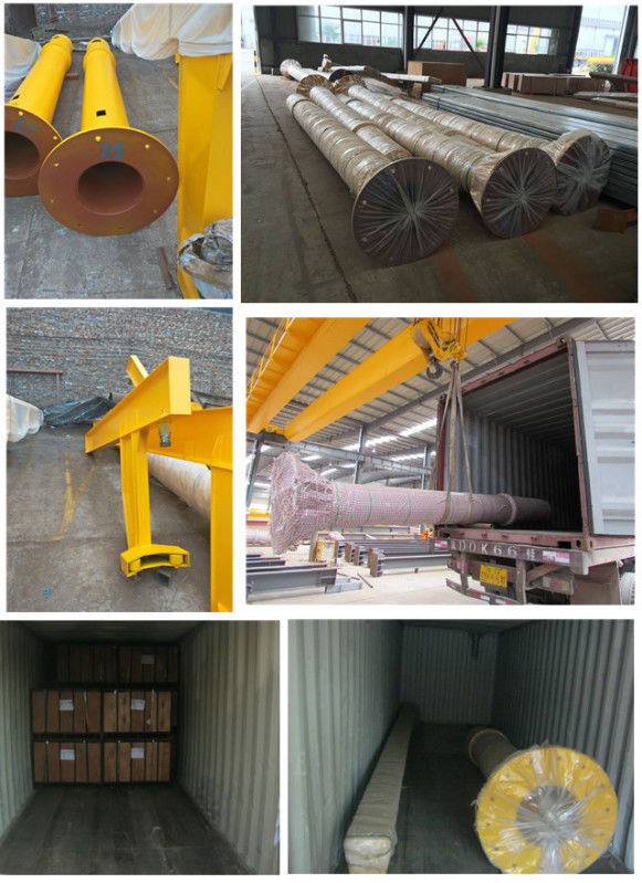 Slewing Arm Pillar Mounted Jib Crane , High Safety Post Mounted Jib Crane