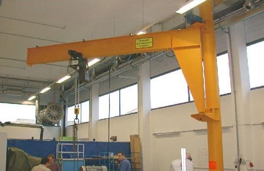 360 Degree Rotation Swing Pillar Mounted Jib Crane With